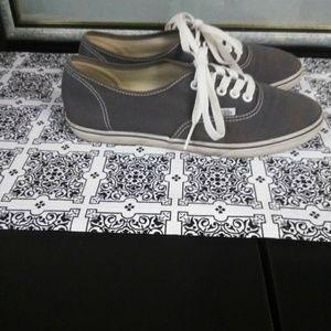 Van's gray tennis shoes size 8.5 women  7 Men